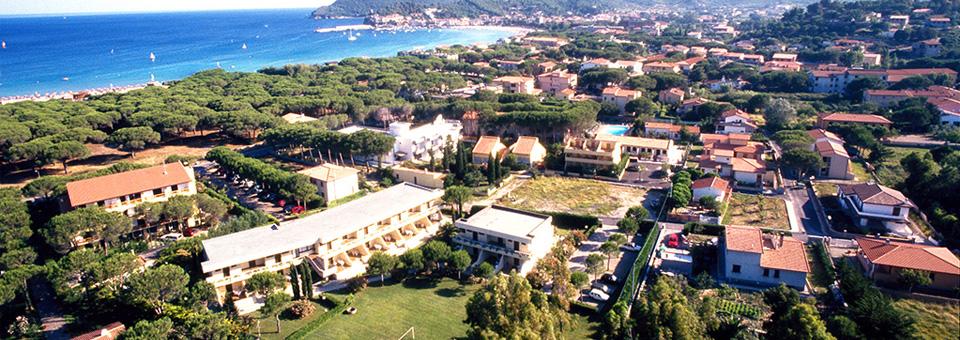 Veduta del Residence Campoblu all' isola d' Elba
